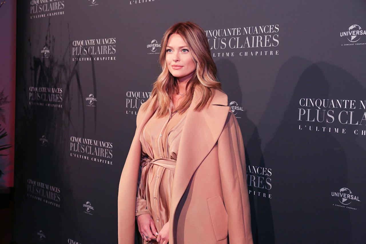 <p>Caroline Receveur photographed for the Fifty Shade Freed Premiere on Feb 6, 2018 in Paris, France. (Photo by Olivier VIGERIE / Contour by Getty Images) </p>