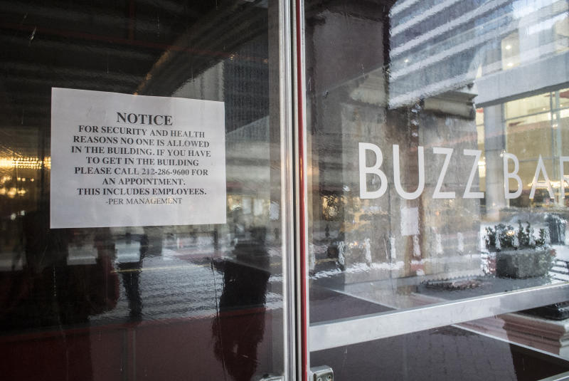 NEW YORK, NY - March 21: Buzz Bar close due to the Coronavirus COVID-19 pandemic on March 21, 2020 in New York City. (Photo by Bill Tompkins/Getty Images)