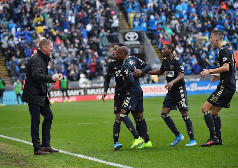 Manager Jim Curtin (left) and the Philadelphia Union may have lost Thursday, but the pieces are in place for a big push forward after this season. (Reuters)