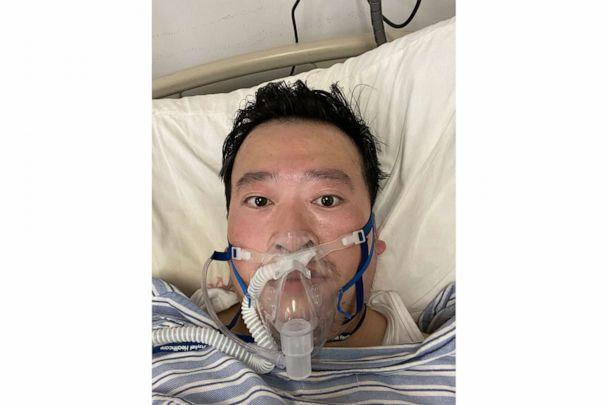 PHOTO: IIn this photo released by the Beijing Thanksgiving Public Welfare Foundation on Feb 3, 2020, Dr. Li Wenliang is seen at the Wuhan Central Hospital in the city of Wuhan in central China's Hubei province. (Beijing Thanksgiving Public Welfare Foundation via AP)