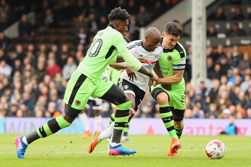 Sone Aluko attacks for Fulham: Getty Images