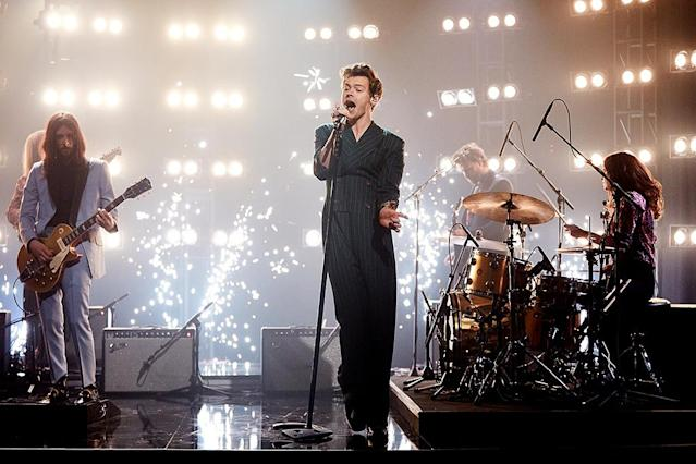 "<p>This impressive power ballad is the solo debut by the co-founder of One Direction. The Bowie-esque track, which has climbed as high as No. 4, is from Styles's eponymous debut album. Current Hot 100 ranking: No. 17. <a href=""https://www.youtube.com/watch?v=qN4ooNx77u0"" rel=""nofollow noopener"" target=""_blank"" data-ylk=""slk:LISTEN HERE"" class=""link rapid-noclick-resp""><strong>LISTEN HERE</strong></a><br>(Photo: Terence Patrick/CBS via Getty Images) </p>"