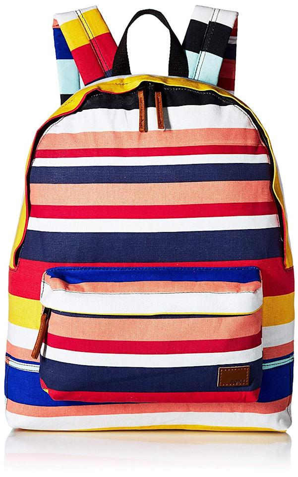 "<p>Your young student will never have a hard time finding their bag with the bright <a href=""https://www.popsugar.com/buy/Roxy-Women-Sugar-Baby-Canvas-Backpack-345309?p_name=Roxy%20Women%27s%20Sugar%20Baby%20Canvas%20Backpack&retailer=amazon.com&pid=345309&price=36&evar1=moms%3Aus&evar9=24254691&evar98=https%3A%2F%2Fwww.popsugar.com%2Ffamily%2Fphoto-gallery%2F24254691%2Fimage%2F45117842%2FRoxy-Women-Sugar-Baby-Canvas-Backpack&list1=shopping%2Cback%20to%20school%2Cschool%20lunches%2Cbackpacks%2Ckid%20shopping&prop13=api&pdata=1"" rel=""nofollow"" data-shoppable-link=""1"" target=""_blank"" class=""ga-track"" data-ga-category=""Related"" data-ga-label=""https://www.amazon.com/dp/B075WYGXWD/ref=gbps_img_m10_179d_7e53dc3e?smid=ATVPDKIKX0DER&amp;pf_rd_p=96e9a730-846e-4298-beb3-8f85db36179d&amp;pf_rd_s=merchandised-search-10&amp;pf_rd_t=101&amp;pf_rd_i=16932236011&amp;pf_rd_m=ATVPDKIKX0DER&amp;pf_rd_r=7Y1FPCDS5E9A85WYEHWZ"" data-ga-action=""In-Line Links"">Roxy Women's Sugar Baby Canvas Backpack</a> ($36).</p>"