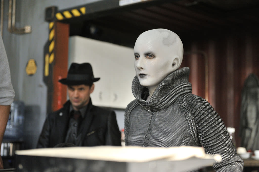 """Trenna Keating as Doc Yewll in the """"Defiance"""" episode, """"I Just Wasn't Made for These Times."""""""