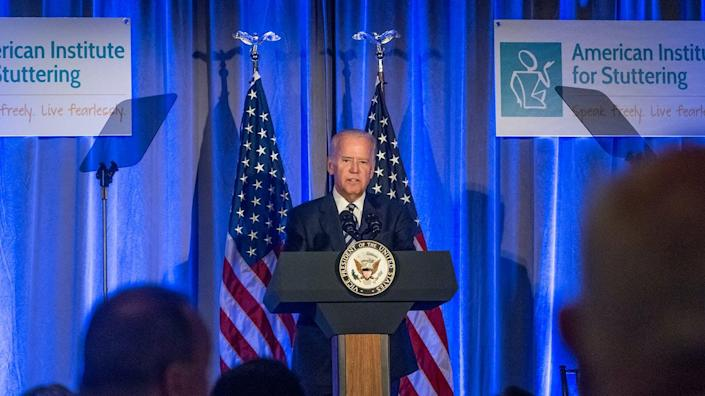 Joe Biden speaks at the 10th Annual American Institute For Stuttering gala.