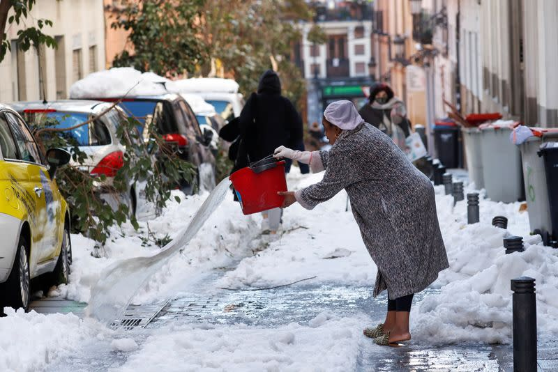 FILE PHOTO: Heavy snowfall in Madrid