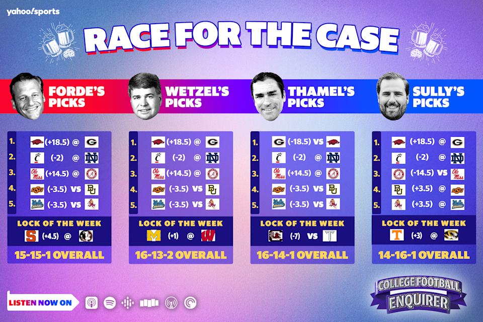 Race for the Case: Week 5 college football picks