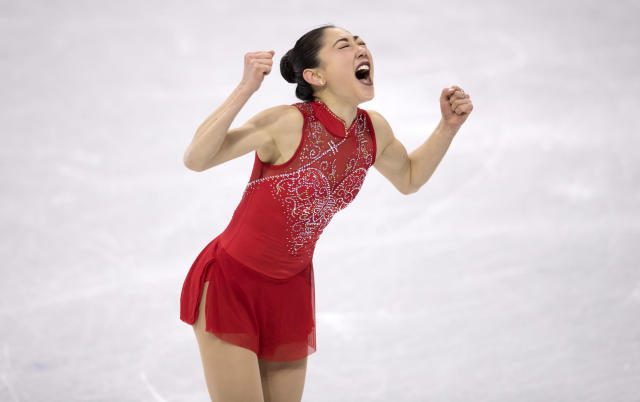<p>Mirai Nagasu makes history as the first American woman to land a triple axel at the Olympics. (Nagasu at the Figure Skating Team Event Ladies Single Free Skating on day three of PyeongChang 2018 Winter Olympic Games, February 12, 2018. [Photo by XIN LI/Getty Images]) </p>