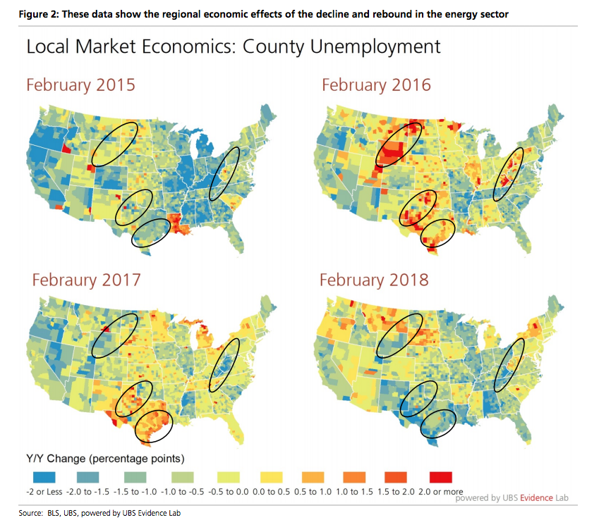 Local unemployment rates reveal a surprising amount about what's going on in the economy — and they're hinting at a boom in manufacturing