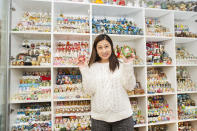 <p>We dread to think what would happen if Wendy Suen's collection fell to the ground, because with 4059 stored in one place, there's certainly a lot to fall. (PA) </p>