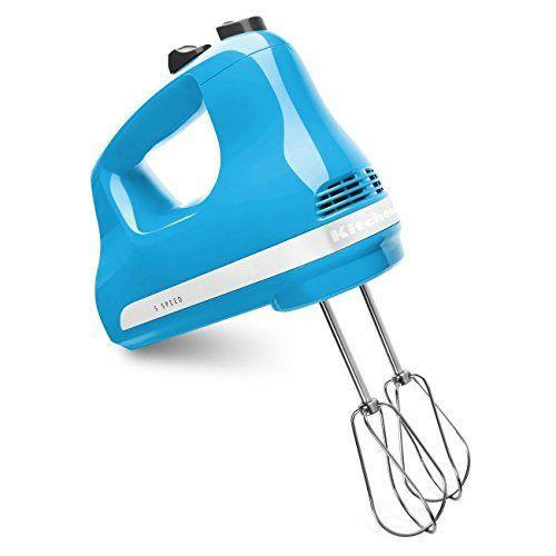 """<p><strong>KitchenAid</strong></p><p>walmart.com</p><p><strong>$69.99</strong></p><p><a href=""""https://go.redirectingat.com?id=74968X1596630&url=https%3A%2F%2Fwww.walmart.com%2Fip%2F120737574&sref=https%3A%2F%2Fwww.goodhousekeeping.com%2Fappliances%2Fmixer-reviews%2Fg2281%2Fhand-mixer-reviews%2F"""" rel=""""nofollow noopener"""" target=""""_blank"""" data-ylk=""""slk:Shop Now"""" class=""""link rapid-noclick-resp"""">Shop Now</a></p><p>The KitchenAid's Ultra Power hand mixer might be small, but it <strong>can knead dough as well as a stand mixer can</strong>. Plus, the motor is super quiet, it adds a nice pop of color to your kitchen, and it comes at a nice price. </p>"""