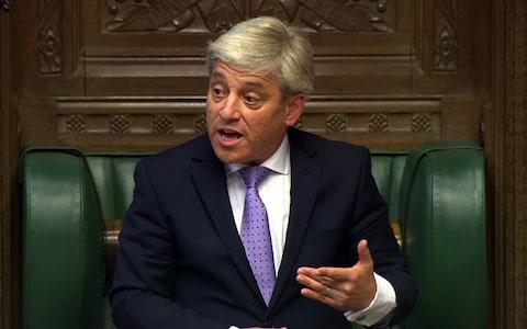 John Bercow, the Speaker of the House of Commons - Credit:  AFP/ AFP