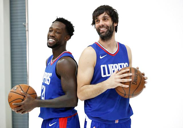 This isn't the first time Patrick Beverley and Milos Teodosic have been teammates. (Getty Images)