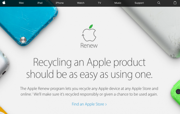 Apple Renew program.