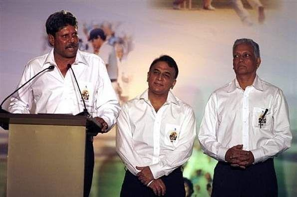 Kapil Dev, Gavaskar and Mohinder Amarnath - The Legends of Indian Cricket