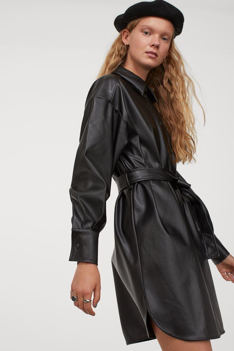 <p>A <span>Faux Leather Shirt Dress</span> ($40) is a surefire way of giving your outfit an edge.</p>