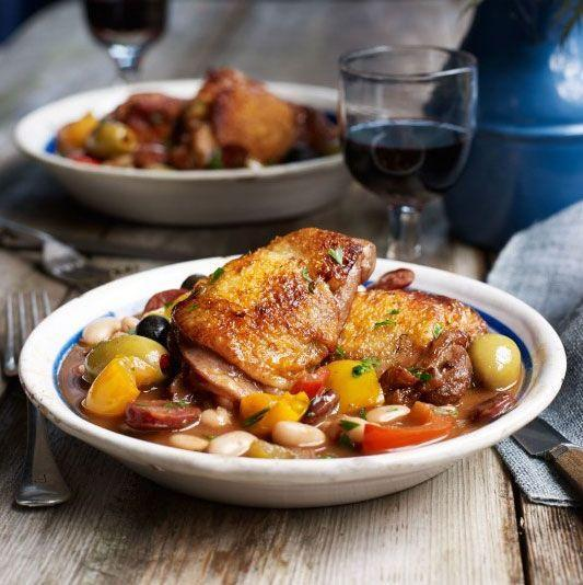 """<p><strong>Recipe: <a href=""""https://www.goodhousekeeping.com/uk/food/recipes/a557463/spanish-chicken/"""" rel=""""nofollow noopener"""" target=""""_blank"""" data-ylk=""""slk:Spanish Chicken"""" class=""""link rapid-noclick-resp"""">Spanish Chicken</a></strong></p>"""