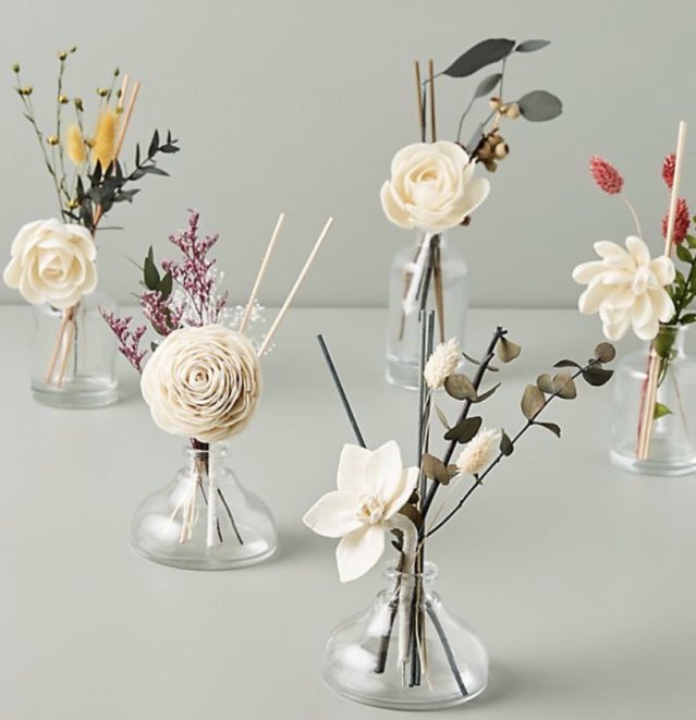 Next-level room diffusers, with flowers among the fragrance reeds. Brilliant. (Photo: Anthropologie)