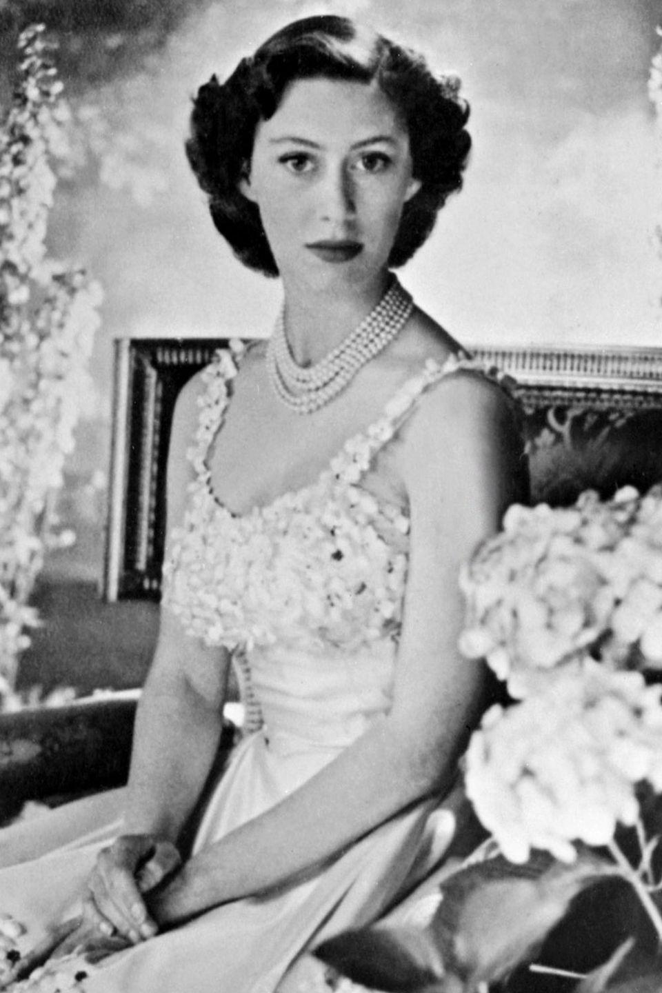 <p>Princess Margaret poses for a portrait in the 1940s. </p>