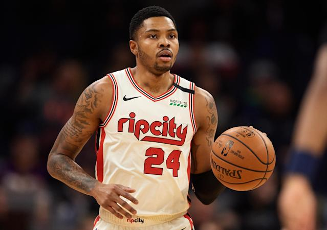 The Trail Blazers sent Kent Bazemore to the Sacramento Kings on Saturday in a multiplayer deal that included a pair of future draft picks. (Hannah Foslien/Getty Images)