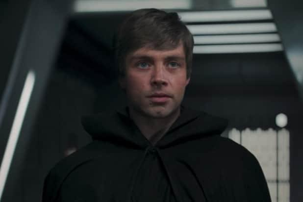 CGI Luke Skywalker in 'The Mandalorian'. (Credit: Lucasfilm/Disney)