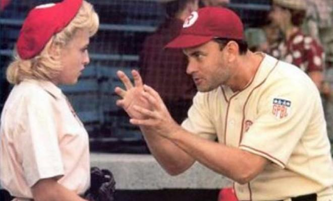 """There's no crying in baseball"": Tom Hanks' memorable line from A League of Their Own will be forever preserved in the National Film Registry."