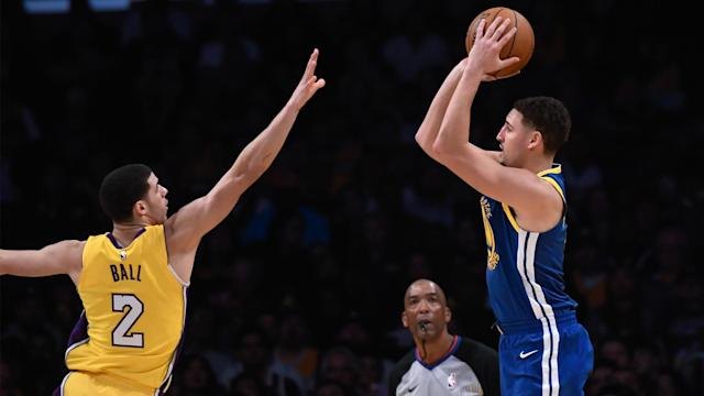 <p>Hey Klay Thompson, what kind of potential do the Lakers possess this season?</p>