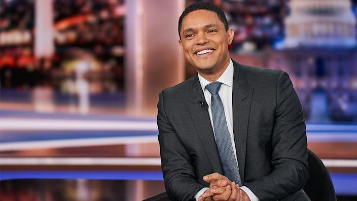 """""""The Daily Show with Trevor Noah"""" (Comedy Central), nominated for variety talk series."""