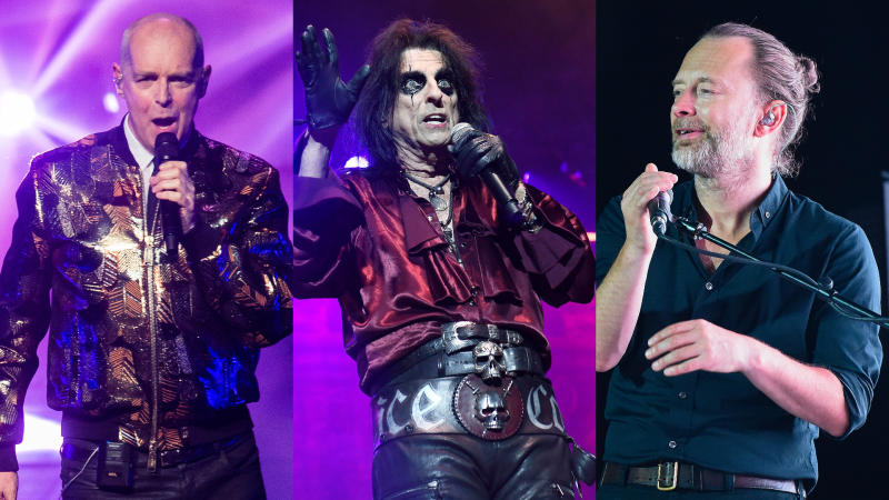 Pet Shop Boys, Alice Cooper and Radiohead all had James Bond theme tunes rejected. (Credit: Samir Hussein/WireImage/STAR MAX/IPx 2019/Marilla Sicilia/Getty)