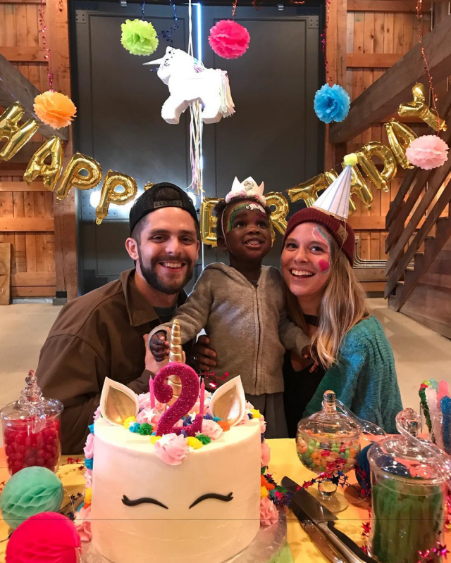 "<p>""I can't believe Willa Gray turns 2 this week!"" wrote the doting the dad, pictured with his daughter and his wife, Lauren. ""Time goes by so fast. This was a unicorn themed party and I can see Willa wanting a horse in the near future."" (Photo: <a href=""https://www.instagram.com/p/Ba2QPncjHi7/?taken-by=thomasrhettakins"" rel=""nofollow noopener"" target=""_blank"" data-ylk=""slk:Thomas Rhett Akins via Instagram"" class=""link rapid-noclick-resp"">Thomas Rhett Akins via Instagram</a>) </p>"