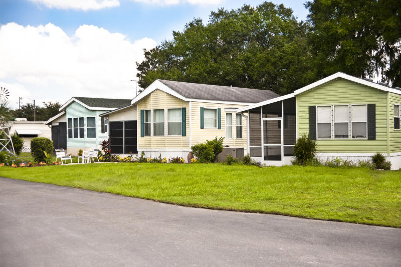 Manufactured homes. (Getty Creative)