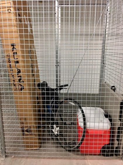 One Lumina resident is using their pricey storage locker to house the usual items, including a bike and cooler.