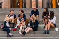 """<p>HBO Max's <a href=""""https://www.harpersbazaar.com/culture/film-tv/a28424420/gossip-girl-reboot/"""" rel=""""nofollow noopener"""" target=""""_blank"""" data-ylk=""""slk:Gossip Girl"""" class=""""link rapid-noclick-resp""""><em>Gossip Girl</em></a> has already begun filming, and the Internet has already begun dissecting the behind-the-scenes photos. With cameras now rolling in New York City, all eyes are on the new class of """"Manhattan's elite,"""" but be warned: They're nothing like Blair, Serena, Chuck, Dan, Nate, Jenny, and the rest of the original crew. This is a whole new gang and a whole new story, which picks up eight years after the original Gossip Girl website went dark. </p><p>Sure, like the original squad, these cool kids hang out <a href=""""https://www.harpersbazaar.com/culture/film-tv/a34635019/gossip-girl-reboot-steps-photo/"""" rel=""""nofollow noopener"""" target=""""_blank"""" data-ylk=""""slk:on the steps of the Metropolitan Museum of Art"""" class=""""link rapid-noclick-resp"""">on the steps of the Metropolitan Museum of Art</a>, remix their prep school uniforms with stylish accoutrements, and dress up for fancy parties—with outfits from original costume designer Eric Daman—but the similarities seem to stop there. According to show co-creator and screenwriter Joshua Safran, this is a more diverse group with more LGBTQ+ representation, navigating New York City in a completely different era. </p><p>This new <em>Gossip Girl</em> debuts in 2021. Here are the behind-the-scenes photos to hold you over until then. </p>"""