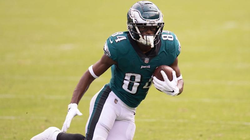 Eagles have one healthy receiver at practice
