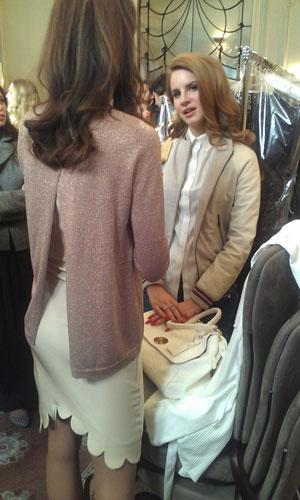 Lana Del Rey Dishes on her Beauty Secrets Backstage at Mulberry's Autumn/Winter 2012 show