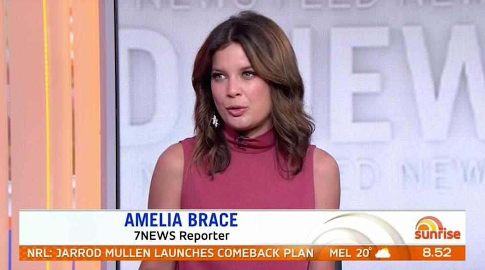 Channel 7 news reporter Amelia Brace said she disagreed with Trump being digitally removed from the 1992 'Home Alone 2' film. (Photo: Channel 7)