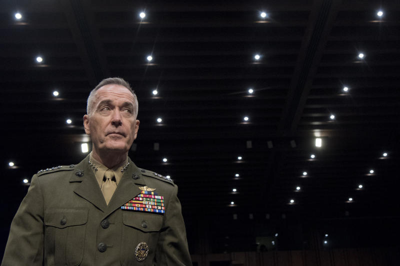 Dunford, the head of the Joint Chiefs, warns that unilaterally pulling out would anger allies and complicate the North Korea crisis.