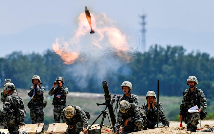 China has been conducting live-fire exercises with mortars - REUTERS