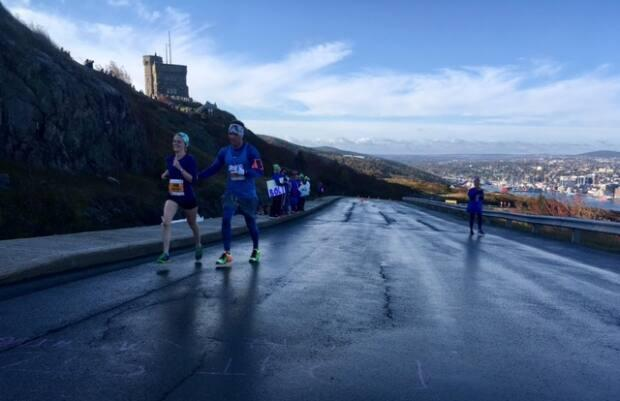 Runners are eager to get back on the roads, with the Cape to Cabot 20K race set for October.  (Jeremy Eaton/CBC - image credit)