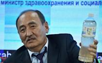 Kyrgyz Health Minister Alimkadyr Beishenaliyev talks about the use of the solution that contains the indigenous Aconitum soongaricum root for the treatment of coronavirus