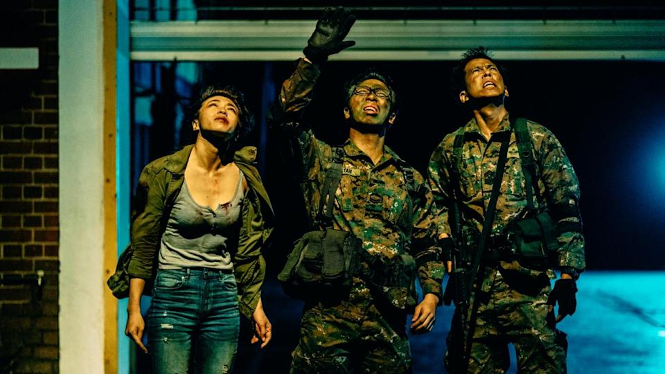 "(From left) Joeypink Lai, Alaric Tay and Benjamin Heng star in Singapore's take on the zombie flick, ""Zombiepura"". (Photo: Clover Films)"