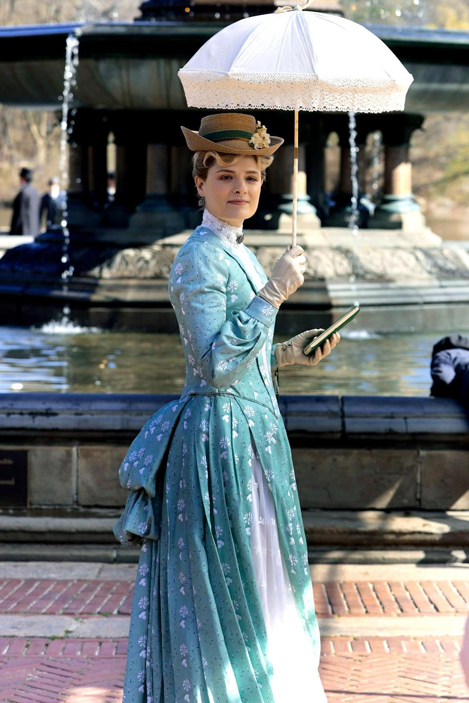<p>Meryl Streep's daughter Louisa Jacobson and Thomas Cocquerel were seen filming HBO's <em>The Guilded Age</em> in New York City. </p>