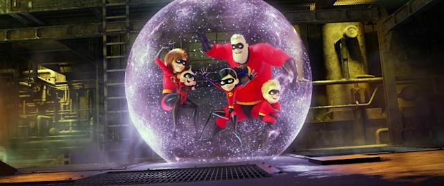 The Parr family is back in the superhero business in <em>Incredibles 2.</em> (Photo: Walt Disney Studios Motion Pictures /Courtesy of Everett Collection)