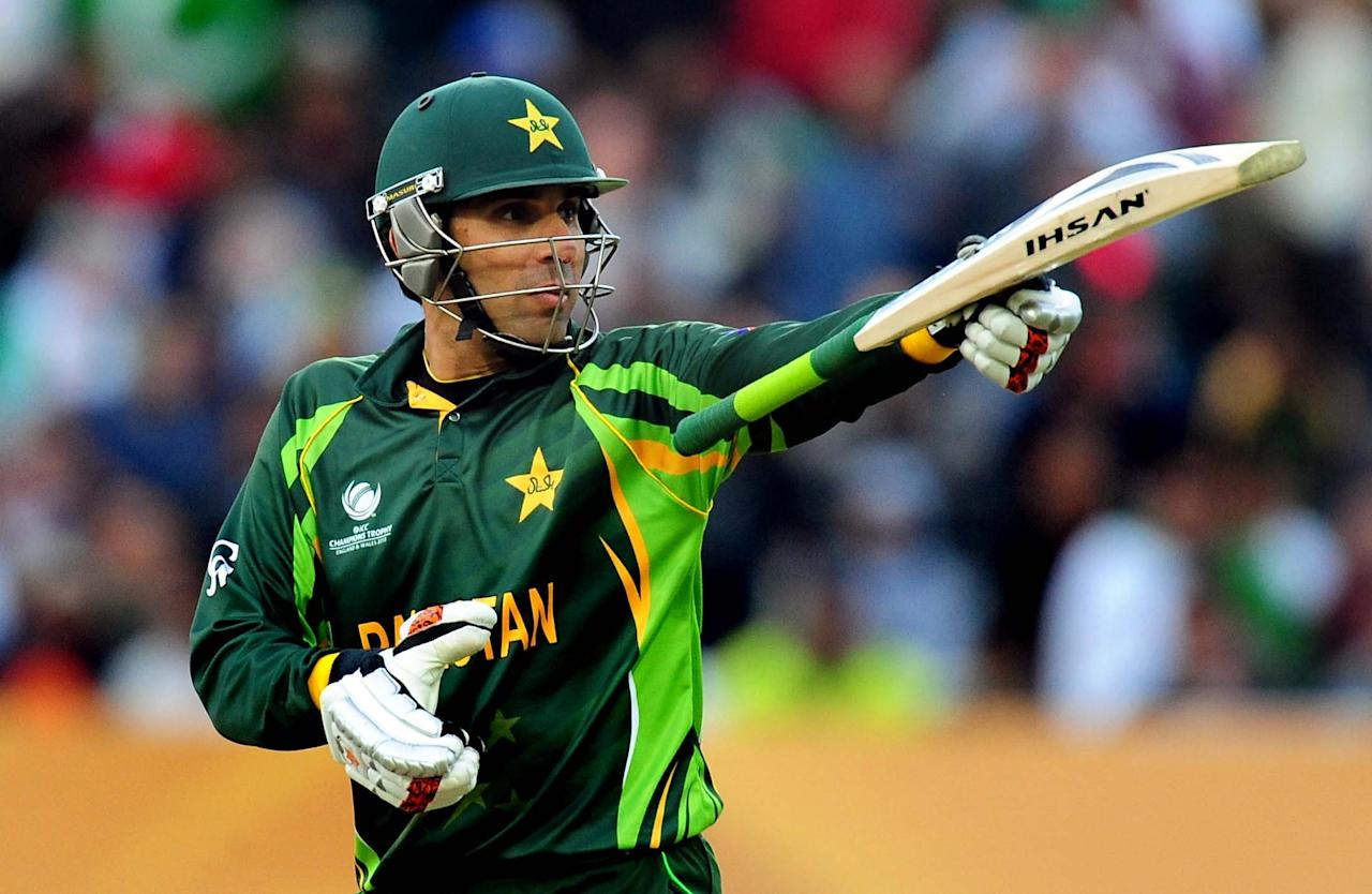 Pakistan's captain Misbah-ul-Haq during the ICC Champions Trophy match at Edgbaston, Birmingham.