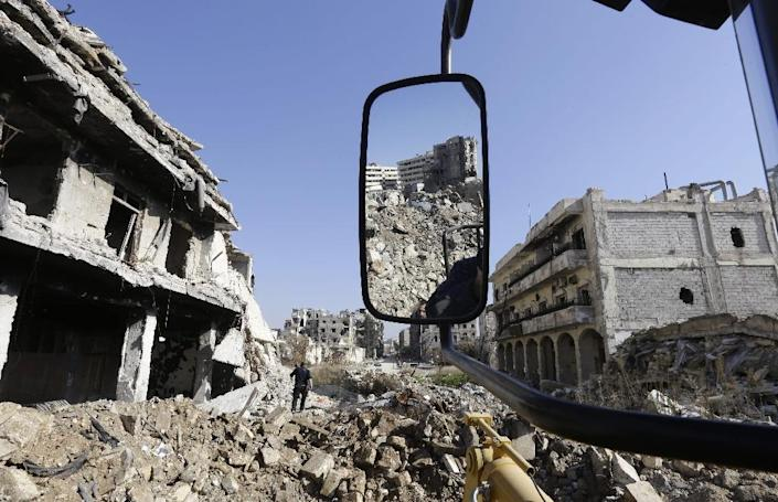 The devastation in Aleppo's Old City on January 22, 2017 a month after its recapture by the Syrian army (AFP Photo/LOUAI BESHARA)