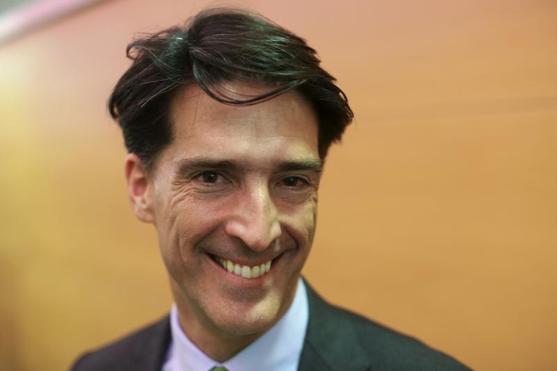 FILE PHOTO: Ramos, CEO of Millicom, poses before an interview with Reuters at the Mobile World Congress in Barcelona