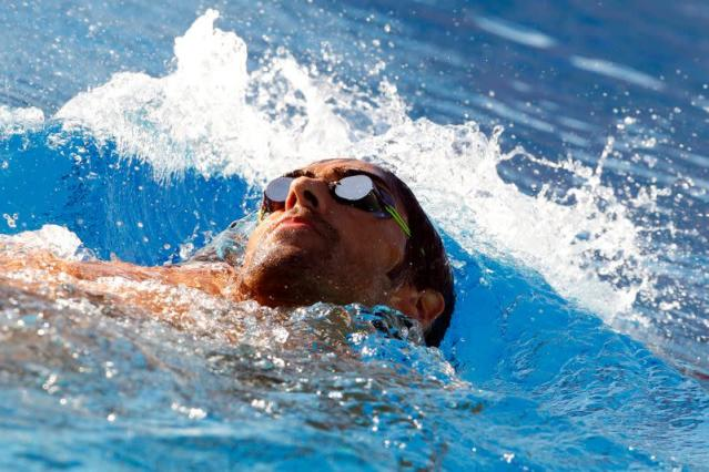 FILE PHOTO: Italy's Filippo Magnini attends a training session at the 49th International Swimming Sette Colli Trophy in Rome
