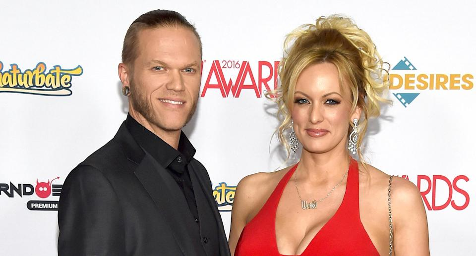 Glendon Crain and Stormy Daniels attend the 2016 Adult Video News Awards at the Hard Rock Hotel & Casino in Las Vegas. (Photo: Ethan Miller/Getty Images)
