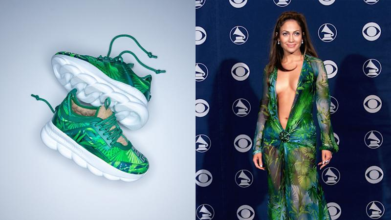 That Iconic Versace Jennifer Lopez Dress Is Now a Covetable Sneaker
