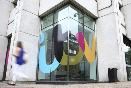 A company sign is displayed outside an ITV studio in London, Britain July 27, 2016. REUTERS/Neil Hall/File Photo